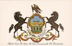 Offical Coat Of Arms Of The Commonwealth Of Pennsylvania Harrisburg Pennsylvania