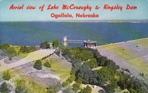Nebraska Ogallala Aerial View Of Lake McConaugy & Kingsley Dam