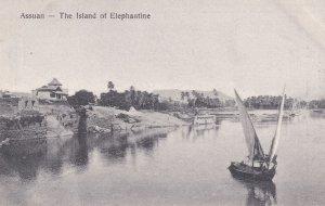 Assuan from Elephantine Island Old Egyptian Boats Postcard