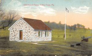 Valley Forge PA~Old School House~Revolutionary War Hospital~Cannon~1908 Postcard