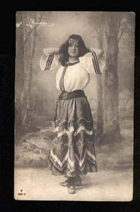 049177 CARMEN Belle DANCER Long Hair BALLET vintage PHOTO