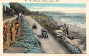 Santa Monica California Palisades Birdseye View Antique Postcard K55974