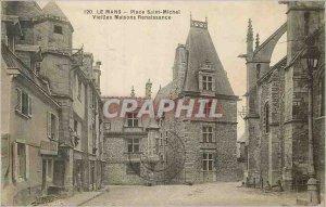 Old Postcard Le Mans Place Saint Michel Old Houses Renaissance