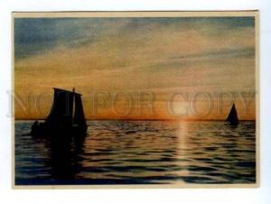 132646 Russia LENINGRAD Sunset at Sea Old 1949 PC