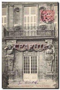 Old Postcard Aix en Provence Caryatids of Puges Pavillon de Vendome