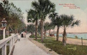 Florida Daytona South Beach Street and Yacht Club 1913