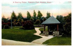 Massachusetts Boston  Franklin Park, a resting palce