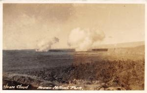 E23/ Hawaii National Park Real Photo RPPC Postcard Volcanic Steam Cloud c20s