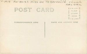 C-1910 Swedish Mission Tabernacle Church Religion RPPC Photo Postcard 3576