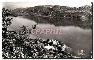 Lake Bourget - and Abbaye d & # 39Hautecombe - Aerial view Postcard Old