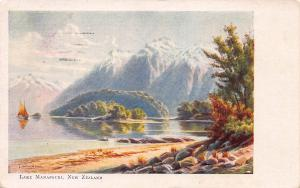 Lake Manapouri, New Zealand, Early Postcard, Used in 1906