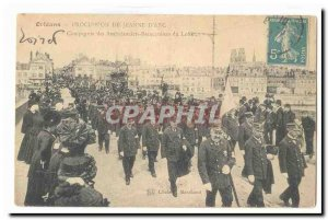 Orleans Postcard Old Company Ambulance Stretcher bearers of Loiret TOP