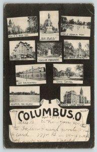 Columbus Ohio~Multi Mini Views~Insane Asylum~Penitentiary~High Street~1909 IPCC
