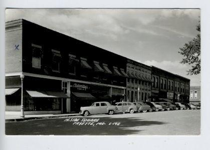 Fayette MO Street View Store Fronts Old Cars RPPC Real Photo Postcard