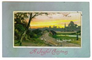Randall to Johnstown, New York Embossed 1903 Christmas Postcard