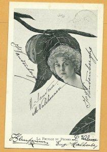 Art Nouveau ; XAVIER SAGER ; Woman & Leaf Combo; PU-1903 ; Du Pecher