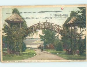 c1910 MOUNTAIN PARK CASINO Mount Tom - Holyoke Near Springfield MA H3847