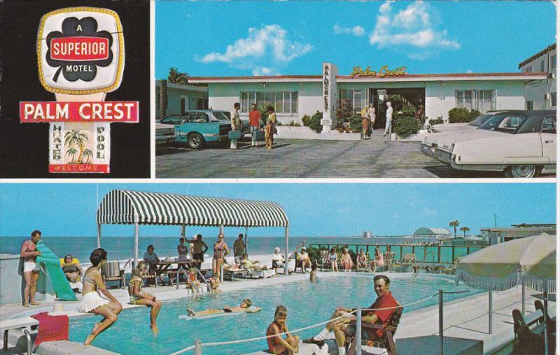 Swimming Pool , Palm Crest Motel , ST PETERSBURG BEACH, Florida , 50-60s