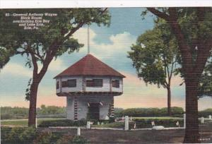 Pennsylvania Erie General Anthony Wayne Block House Overlooking Erie Bay Curt...