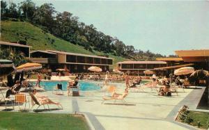 1964 Mission Valley Inn roadside San Diego California Pool postcard 12460