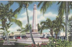 Florida Miami Beach Fountain At Normady Isles Curteich