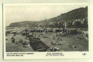 pp1635 - View of Bathers on Shanklin Beach, c1910 - Pamlin postcard