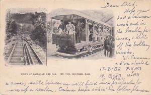 Views of Railroad and Car, Mt. Tom, HOLYOKE, Massachusetts, PU-1954