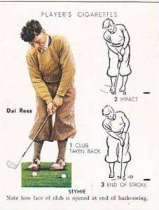 Player Vintage Cigarette Card Golf 1939 No 22 Stymie Dai Rees