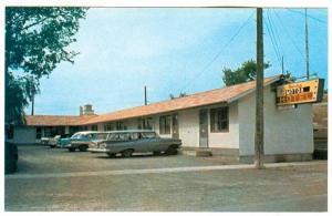 Exterior,  Barclay Motor Hotel, Maitoba Skiers' Paradise,  La Riviere,  Man...