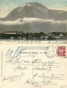 norway norge, AANDALSNÆS, Panorama (1906) Postcard