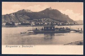 Dragon's Rock and Königswinter w/Ferry Germany unused c1905