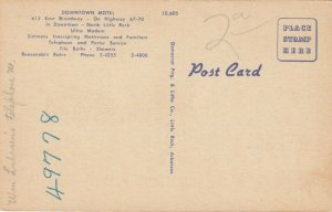 NORTH LITTLE ROCK , Arkansas, 30-40s; Downtown Motel