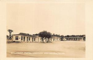Ozona TX Hillcrest Motel on Highway 290 Old Car RPPC Postcard