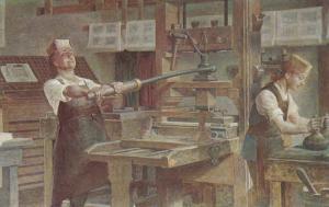 BOSTON, Massachusetts, 1940-1960's; Franklin The Apprentice Printer, Franklin...