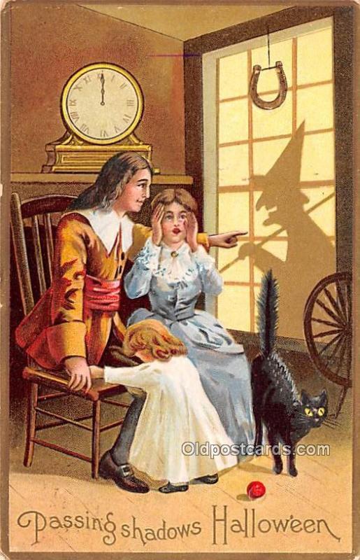 Halloween Post Card Old Vintage Antique 1912