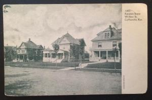 Resident Scene, Willow St. Coffeyville, Kan. Souvenir Post Card Co. 16827