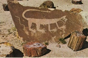 Northern ARIZONA, 1940-60s; Petrified Forest National Park, Indian Petroglyphs