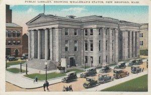 NEW BEDFORD, Massachusetts, 1910s; Public Library, Whaleman's Statue