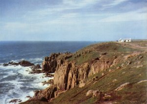 Large Size Cornwall Postcard, Lands End & First and Last House in England OS217