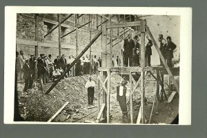 Fort Madison IOWA RP 1910 HANGING Execution PRISON John Junkin BLACK MAN Negro 2
