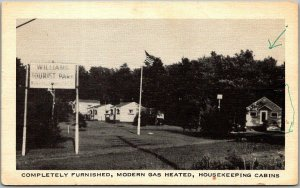 1950s Roadside Advertising Postcard WILLIAMS TOURIST PARK - Location Unknown