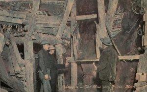 Helena , Montana , 1900-10s ; Working in a Gold Mine