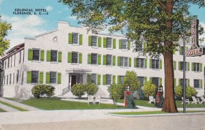 South Carolina Florence The Colonial Hotel 1952 sk6901