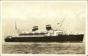 Steamship SS Santa Lucia 1930s Real Photo Postcard