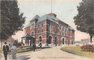 Massachusetts  Stoughton,  Town Hall and Post Office