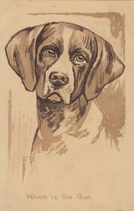 Wherer is the gun? Sketch of English Pointer Dog, 00-10s