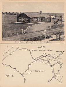 MARIA , Bonaventure , Quebec, Canada, 1930s ; Baie des Chateurs Log Cabins