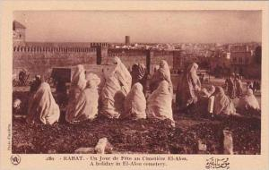 Morocco Rabat A holiday in El-Alon cemetery 1920s-30s