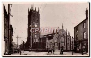 Great Britain Leeds Old Postcard Parish church