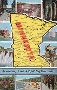 Map Of Minnesota 1956